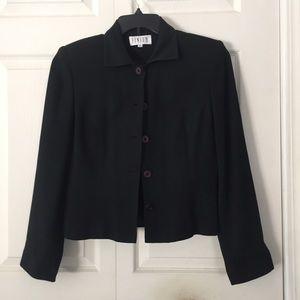 Finite Black Blazer Wool Fully Lined Size 8